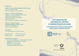 pós graduação em ciências, gestão e administração do mar