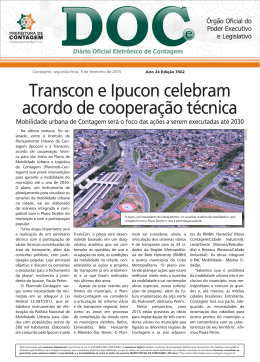 Transcon e Ipucon celebram acordo de cooperação técnica