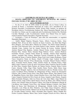 Acta 15 - PDF - Assembleia Municipal de Lisboa