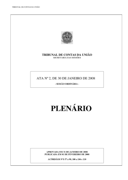 ACÓRDÃOS NºS 57 a 98, 100 a 104 e 110