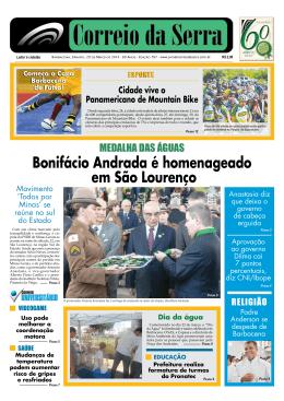Bonifácio Andrada é homenageado em São Lourenço