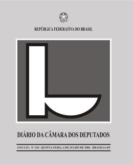 publicação - Câmara dos Deputados