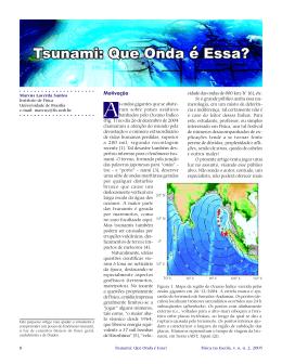 Tsunami: Que Onda é Essa?