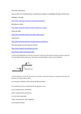 Exercícios Fenômenos Lista se sites com animações