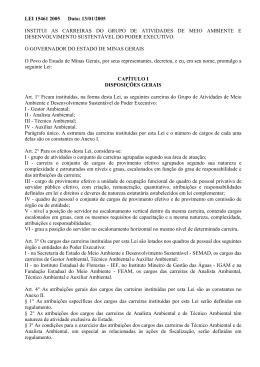 Plano de Carreira - Lei 15.461 - MEIO AMBIENTE