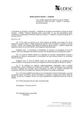 022 - Secretaria dos Conselhos Superiores