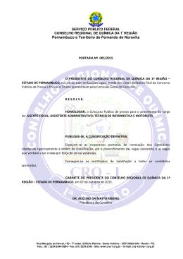 Portaria 005/2015