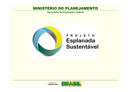 Apresentação Esplanada Sustentável