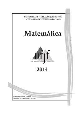 Apostila – Matemática – Prof.ª Izabella
