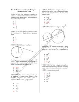 relacoes metricas no triangulo retangulo