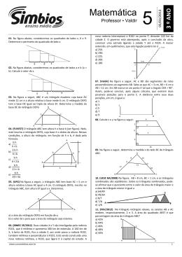 07. SB-07 - Lista 05 - Geometria Plana