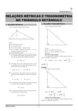 relações métricas e trigonometria no triângulo retângulo