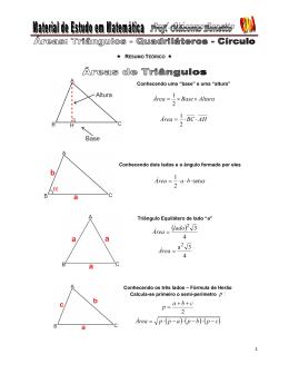 Triângulos - Quadrilárteros - Círculo - MEM