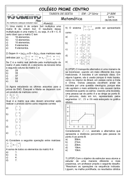 COLÉGIO PRIME CENTRO Matemática