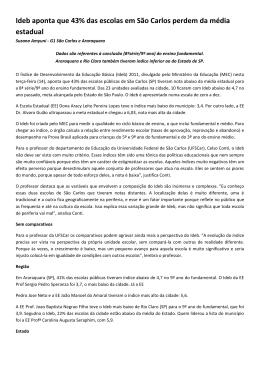 Ideb aponta que 43% das escolas em São Carlos perdem da média