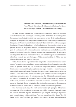 Fernando Luís Machado, Cristina Roldão, Alexandre Silva