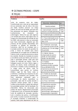→ ÚLTIMAS PROVAS – CESPE → PEÇAS
