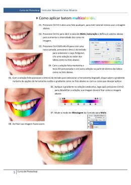 Como aplicar batom multicolorido.
