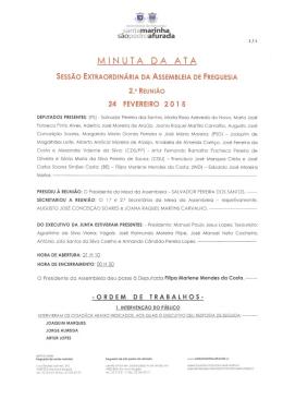 minuta da ata - Junta de Freguesia de Santa Marinha e São Pedro