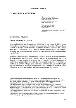 OS XUKURU E A VIOLÊNCIA - Procuradoria Regional da República
