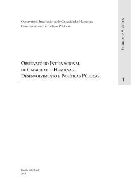Estudos e Análises - Observatório Internacional de Capacidades