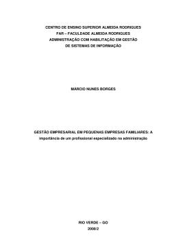 CENTRO DE ENSINO SUPERIOR ALMEIDA RODRIGUES FAR