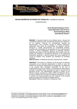 NOVAS EXIGÊNCIAS NO MUNDO DO TRABALHO: competência