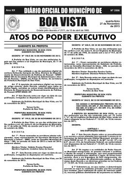 poder executivo - Prefeitura Municipal de Boa Vista