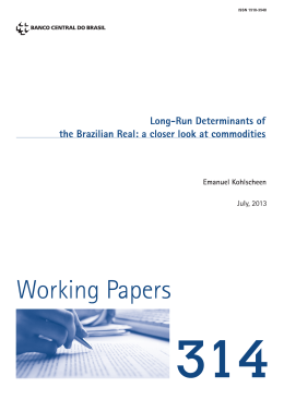 Working Paper Series - Banco Central do Brasil