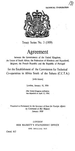 Agreement - UK Treaties Online