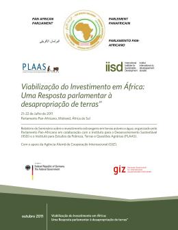 Viabilização do Investimento em África