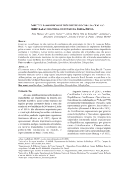 aspectos taxonômicos de três espécies de coralináceas não