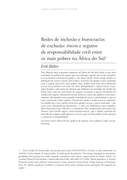 Redes de inclusão e burocracias de exclusão: riscos e