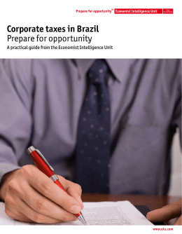 Corporate taxes in Brazil Prepare for opportunity
