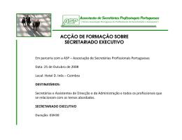 acção de formação sobre secretariado executivo