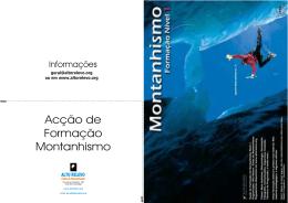 Acção de Formação Montanhismo