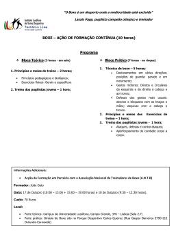 BOXE - Instituto Lusófono Treino Desportivo