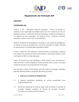 Regulamento de Formação AIP