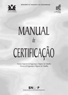 Manual de Certificação - Autoridade para as Condições do Trabalho