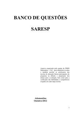 BANCO DE QUESTÕES SARESP - arquivo completo