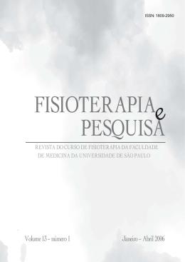 Volume 13 – número 1 Janeiro – Abril 2006