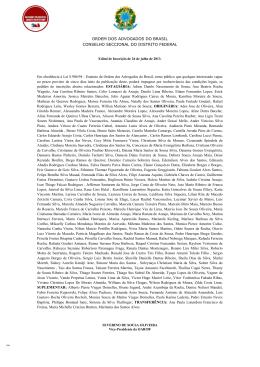 Edital de Inscrição 26/07/2013