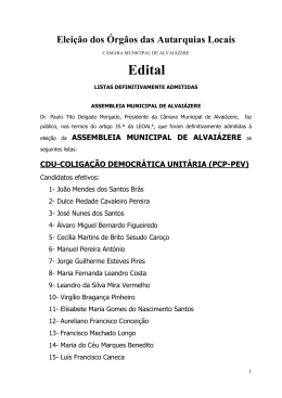 Eleição dos Órgãos das Autarquias Locais