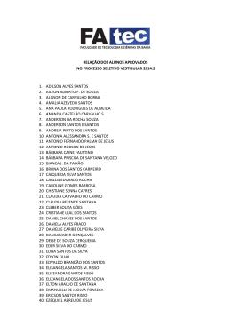 aprovados vestibular 2014 2