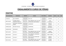 ENSALAMENTO CURSO DE FÉRIAS EXATAS