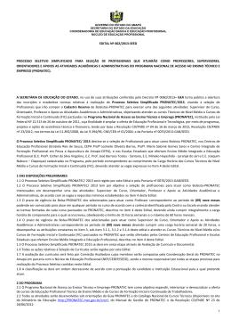 edital nº 002/2013-seed processo seletivo simplificado para seleção