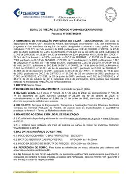 EDITAL DE PREGÃO ELETRÔNICO Nº 20140002/CEARÁPORTOS