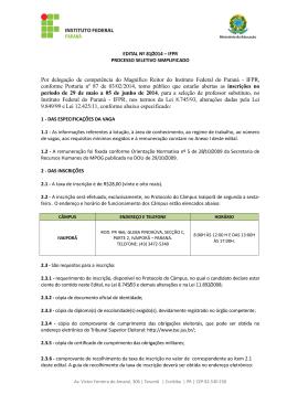 Edital 081/2014 – Ciências Agrárias