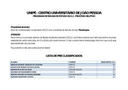 UNIPÊ - CENTRO UNIVERSITÁRIO DE JOÃO PESSOA