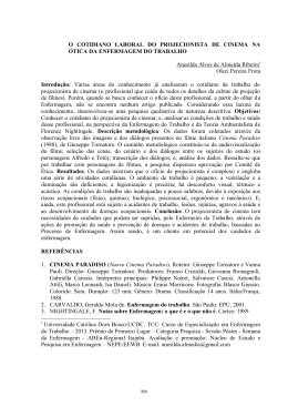 O COTIDIANO LABORAL DO PROJECIONISTA DE